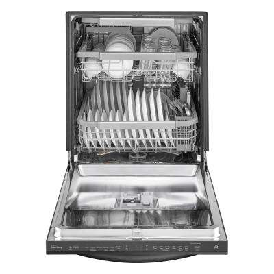 Top Control Smart Dishwasher with Stainless Steel Tall Tub and 3rd Rack in Matte Black Stainless Steel, 44 dBA