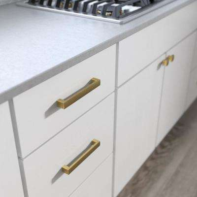 Simply Geometric 6-5/16 in. (160mm) Center-to-Center Brushed Brass Drawer Pull