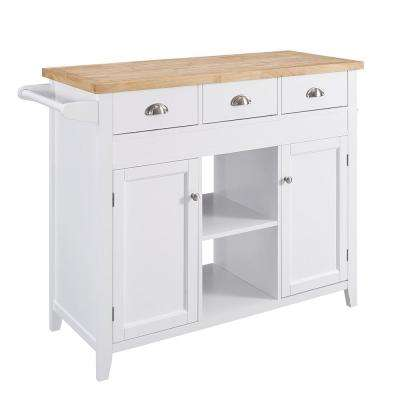 75 in. W Sheridan Kitchen Cart with Towel Bar