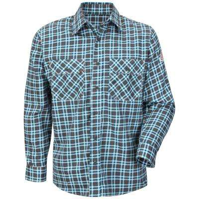 ECEL FR ComforTouch Men's Plaid Uniform Shirt