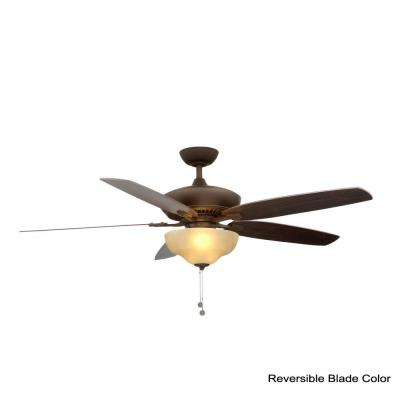 Langston 60 in. Indoor Oil-Rubbed Bronze Ceiling Fan with Light Kit