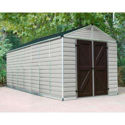 SkyLight 8 ft. x 16 ft. Tan Storage Shed