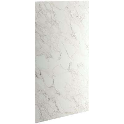 Choreograph 0.3125 in. x 48 in. x 96 in. 1-Piece Shower Wall Panel in CrossCut Dune for 96 in. Showers