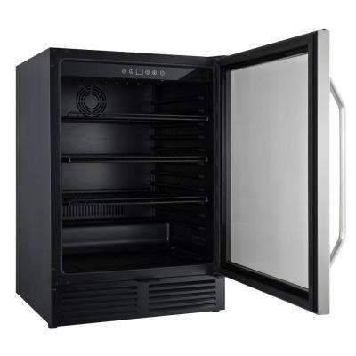 5.0 cu. ft. Mini Fridge in Black with Stainless Steel Door