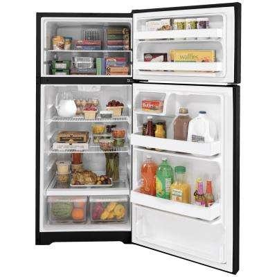 16.6 cu. ft. Top Freezer Refrigerator in Black