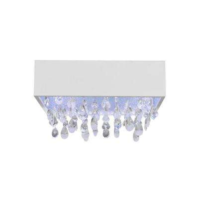 Lulu 1-Light White Trim LED Flushmount