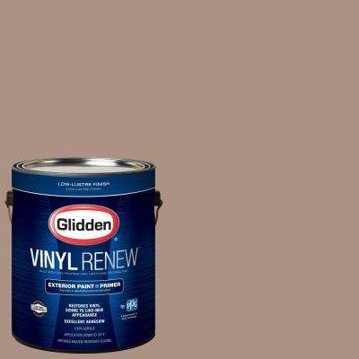 1 gal. #HDGWN01D Woodruff Beige Low-Lustre Exterior Paint with Primer