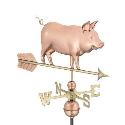 Country Pig Weathervane – Pure Copper