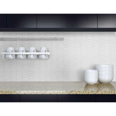 Retro Picket Bianco 13.99 in. x 10.76 in. x 8mm Porcelain Mesh-Mounted Mosaic Tile (10.5 sq. ft. / case)