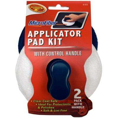 Microfiber Applicator Pads with Grip Handle (2-Pack)