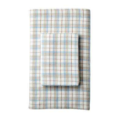 Frasier Yarn Dyed Plaid Organic Flannel Fitted Sheet