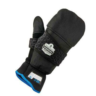 Black Thermal Flip-Top Gloves