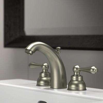8 in. Widespread 2-Handle Bathroom Faucet in Brushed Nickel