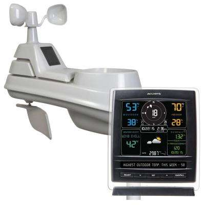 Pro 5-in-1 Color Weather Station with Wind and Rain