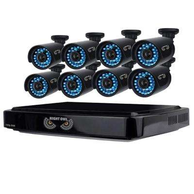 8-Channel 1080p Smart HD Video Security System with 1 TB HDD and 8 x 720p HD Cameras