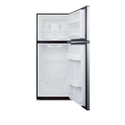 11.5 cu. ft. Frost Free Upright Top Freezer Refrigerator in Stainless Steel, ENERGY STAR