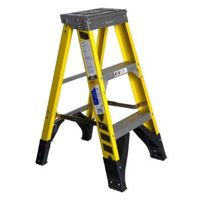 3 ft. Fiberglass Step Ladder with 375 lb. Load Capacity Type IAA Duty Rating