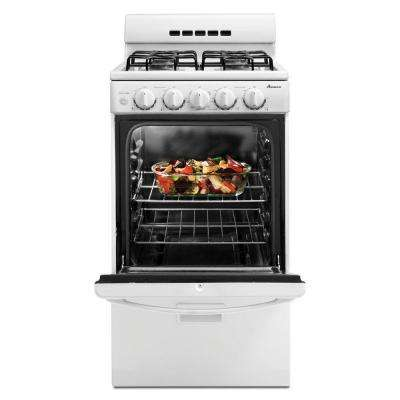 20 in. 2.6 cu. ft. Gas Range in White