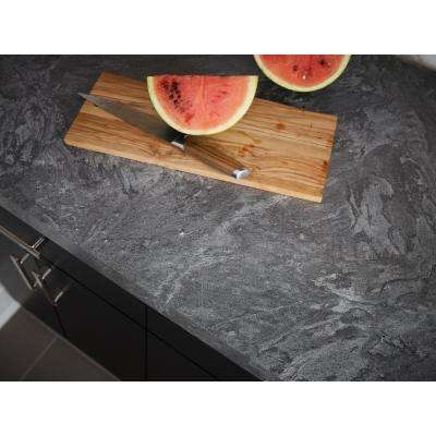 4 ft. x 8 ft. Laminate Sheet in Silver Galaxy Slate with Matte Finish