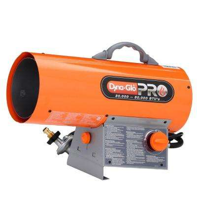 60K BTU Forced Air Propane Portable Heater