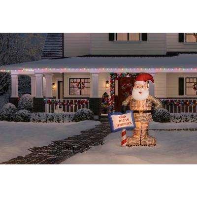 7 ft. Inflatable Military Santa