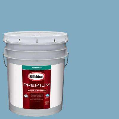 5 gal. #HDGB59 Country House Blue Semi-Gloss Interior Paint with Primer