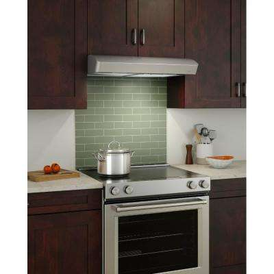 Convertible Under Cabinet Range Hood With Light In Stainless Steel