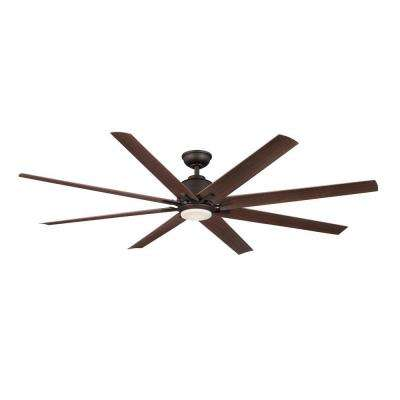 Kensgrove 72 in. LED Indoor/Outdoor Oil-Rubbed Bronze Ceiling Fan