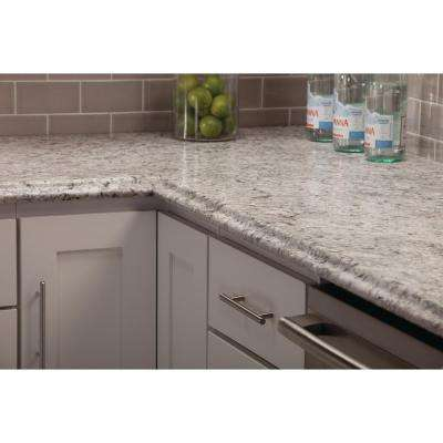 10 ft. Laminate Countertop with Left Miter in Spring Carnival with Valencia Edge