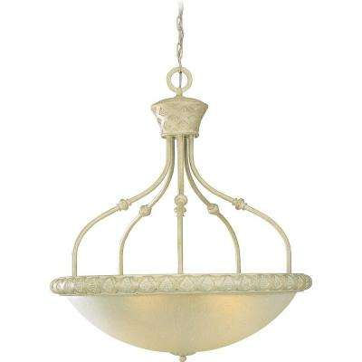 Alexandria Collection 4-Light Golden Coral Bowl Pendant