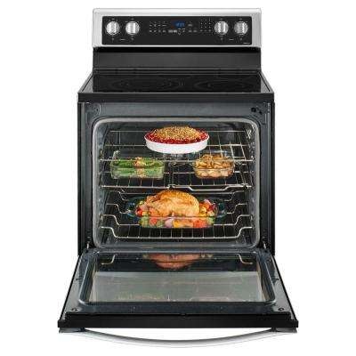 6.4 cu. ft. Freestanding Electric Range with True Convection in Stainless Steel