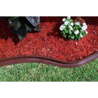 EcoBorder 4 ft. Red Rubber Landscape Edging (6-Pack)