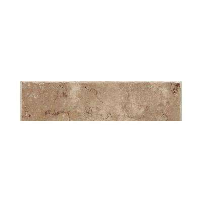 Fidenza Cafe 2 in. x 6 in. Ceramic Bullnose Wall Tile