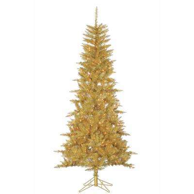 7.5 ft. Champagne Tuscany Artificial Christmas Tinsel Tree