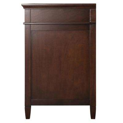 Ashburn 25 in. W x 22 in. D Vanity in Mahogany with Engineered Marble Vanity Top in Sedona with White Sink