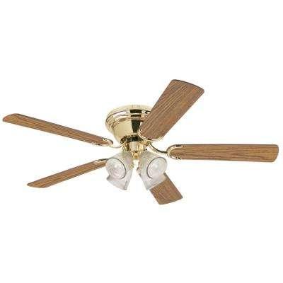 Contempra IV 52 in. Polished Brass Ceiling Fan