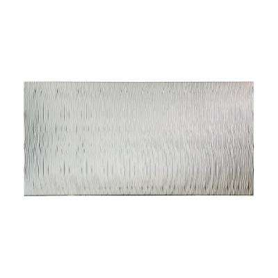 Waves Vertical 96 in. x 48 in. Decorative Wall Panel in Brushed Aluminum