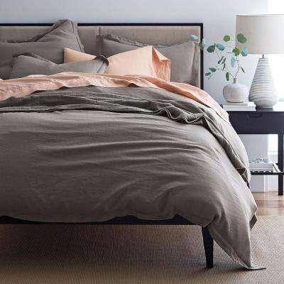 Comfort Wash Solid Linen Duvet Cover