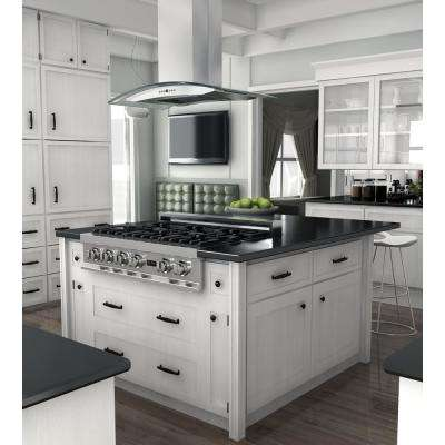 30 in. 760 CFM Island Mount Convertible Range Hood in Stainless Steel