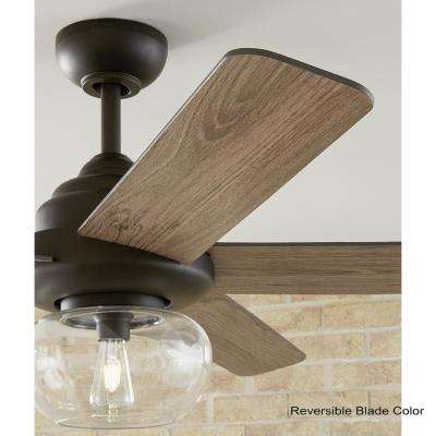 Avonbrook 56 in. LED Bronze Ceiling Fan with Light Works with Google Assistant and Alexa