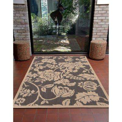 Baxter Blossom Charcoal 5 ft. x 8 ft. Indoor/Outdoor Area Rug