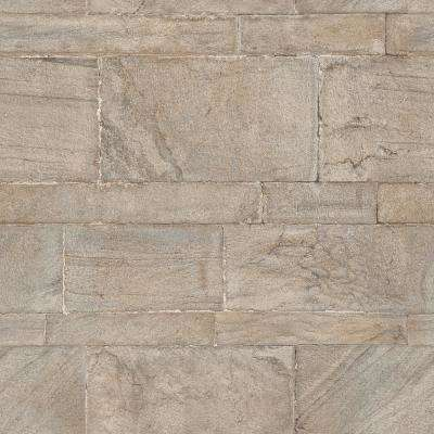 30.8 sq. ft. Beige Sandstone Wall Peel and Stick Wallpaper