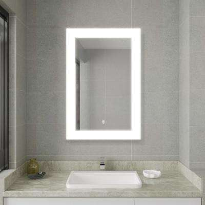 30.00 in. Width x 21.50 in. Height LED Lighted Frameless Bathroom Mirror