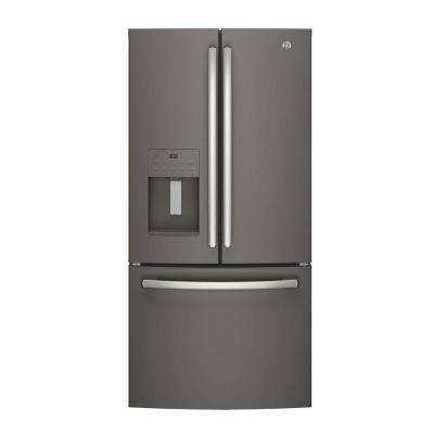 33 in. W 23.8 cu. ft. French Door Refrigerator in Slate