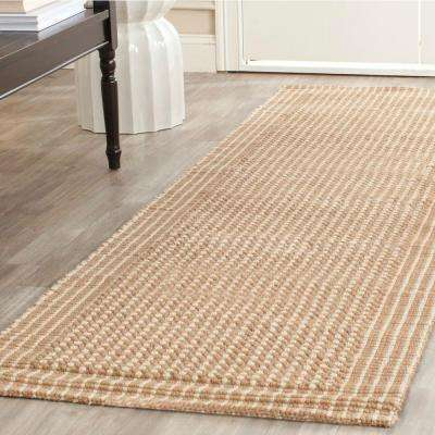 Natural Fiber Ivory/Beige 2 ft. x 6 ft. Runner Rug