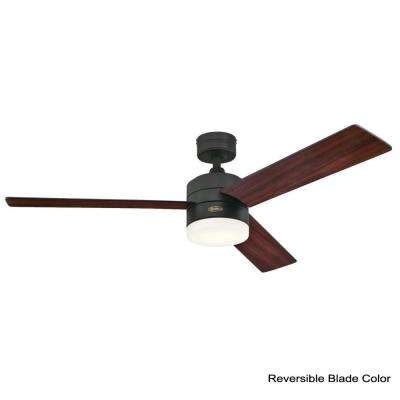 Alta Vista 52 in. LED Matte Black Ceiling Fan
