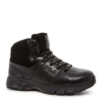Memory Breach Men Black Leather/Synthetic Steel Toe Work Boot
