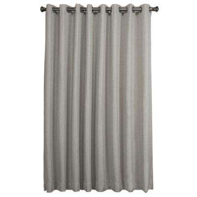 Tacoma Double Blackout Patio Panel 106 in. W x 84 in. L Gray Polyester Face and Liner Fabric Both Woven