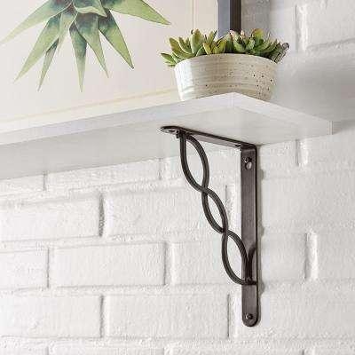 6.5 in. x 9 in. Oil-Rubbed Bronze Triple Scroll Decorative Shelf Bracket