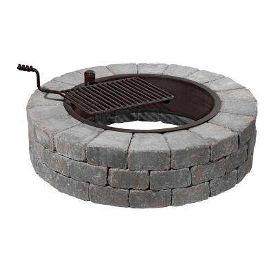 48 in. Grand Concrete Fire Pit in Bluestone with Cooking Grate